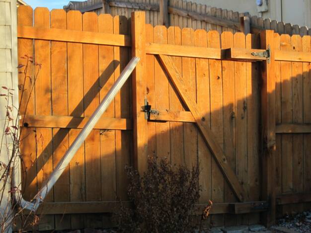 Cedar Fence Gate in Colorado Springs